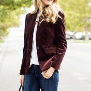 H&M Brown Corduroy Suit Jacket Blazer M/L